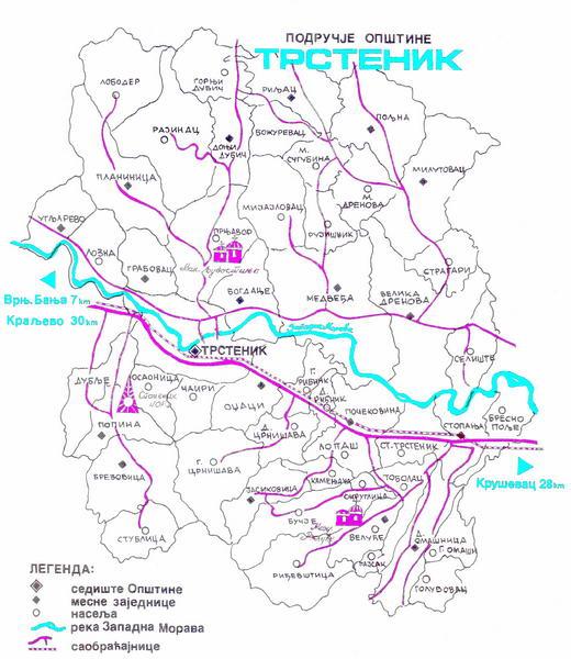 Mapa Srbije Trstenik Superjoden